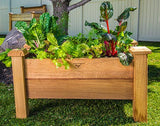 Gronomics Easy Assembly Rustic Planter Box - 18X34X19 - gardenmybalcony.com - 1