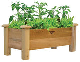 Gronomics Easy Assembly Rustic Planter Box - 18X34X19 - gardenmybalcony.com - 3