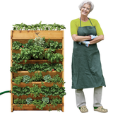 Gronomics Red Cedar Vertical Garden - Assembled & Unfinished - gardenmybalcony.com - 2