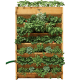 Gronomics Red Cedar Vertical Garden - Assembled & Unfinished - gardenmybalcony.com - 1