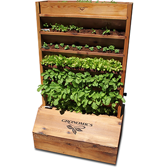 Gronomics Red Cedar Vertical Garden Package - gardenmybalcony.com - 1