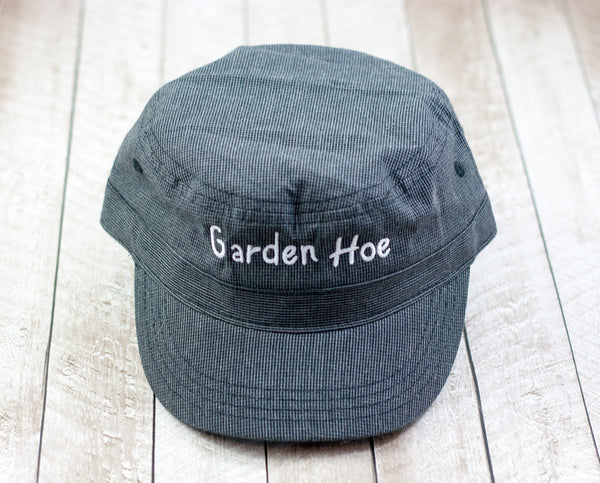 Garden Hoe Railroad Cap Houndstooth  Black/White