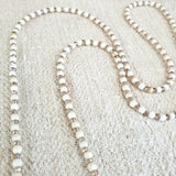 White Turquoise & Crystal Beaded 4-in-1 Chain - 36-Inch
