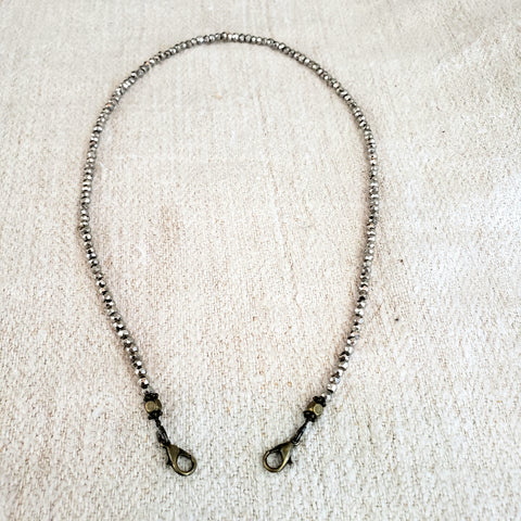 Silver Pyrite  4-in-1 Chain - 18 & 36-inch