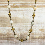 Chalcedony Gold Hematite 4-in-1 Chain - 18 & 36-inch