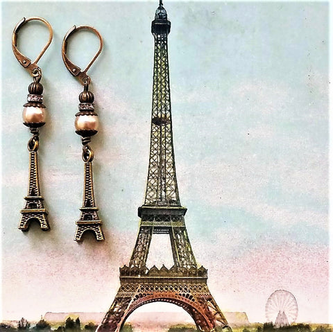 Eiffel Tower Earrings - SALE!