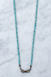 Blue Turquoise & Crystal Beaded 4-in-1 Chain - 36-Inch