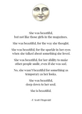 """She was beautiful..."" - F. Scott Fitzgerald Quote Card"