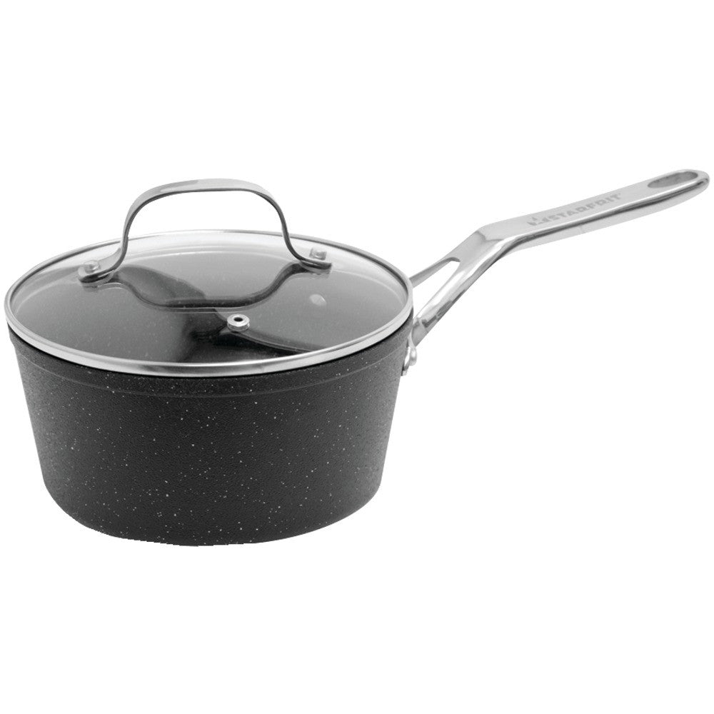 Starfrit The Rock Saucepan With Glass Lid (2-quart) - MNM Gifts