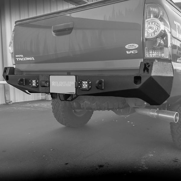 2005 2015 Tacoma Rear Plate Bumper Relentless Off Road