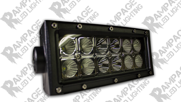 "Rampage Lighting 6"" Dual Row LED Light Bar FLOOD Pattern"