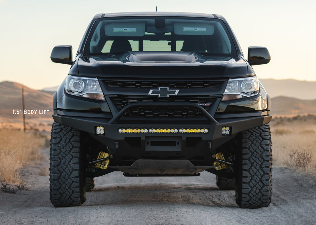 Lifted Chevy Colorado >> 2017 2020 Chevy Zr2 Defender Front Bumper