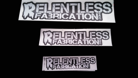 Relentless Fabrication Decals