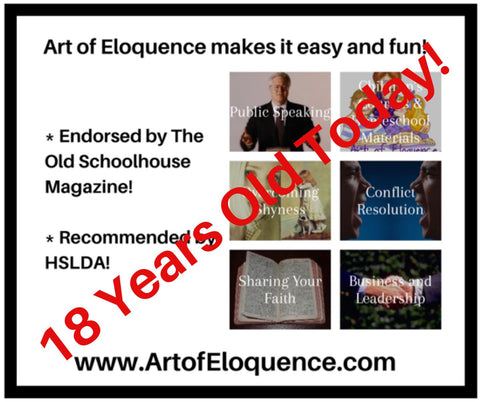Art of Eloquence is 18 Years Old Today!