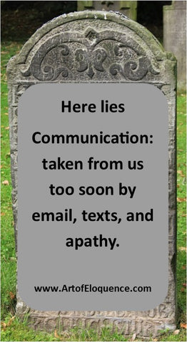 The Death of Communication