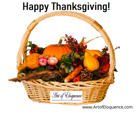 Happy Thanksgiving From Art of Eloquence!