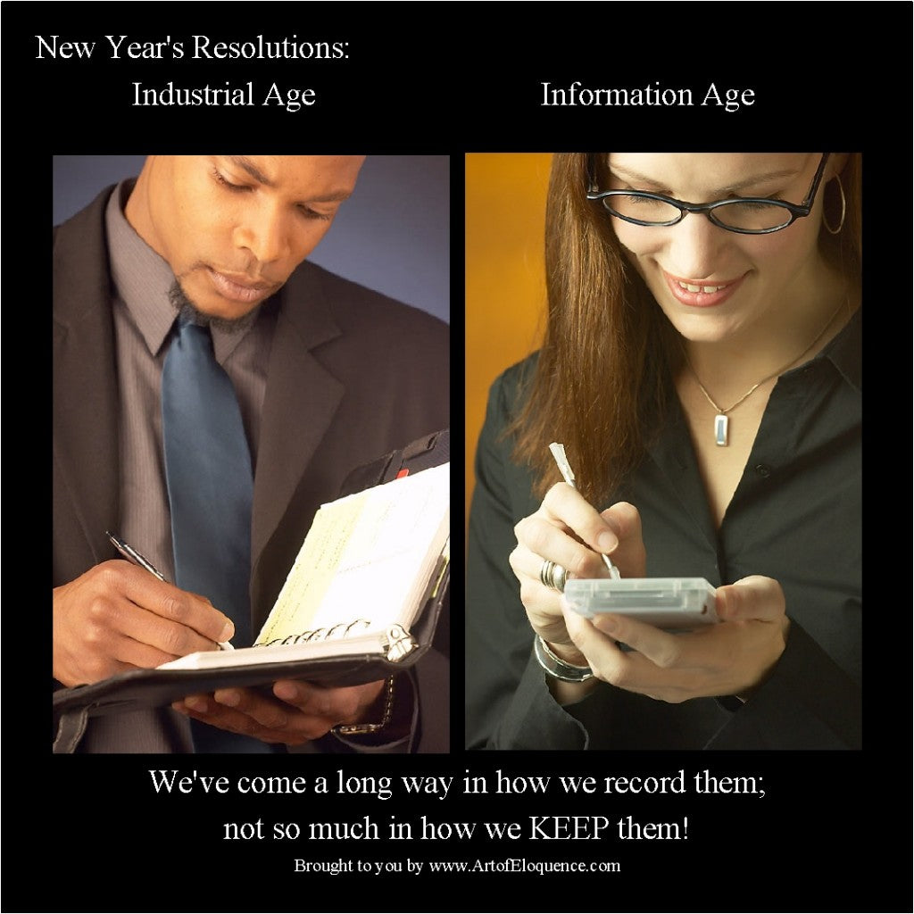 New Year's Resolutions: Then and Now