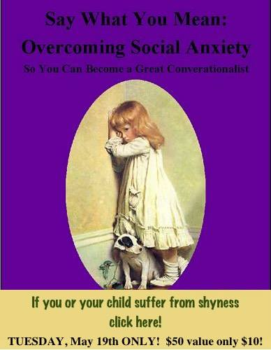 Don't let social anxiety control your life  (or your child's) any longer!
