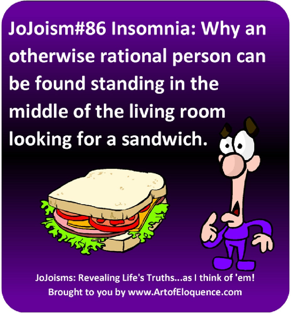 Visual JoJoism #86 Insomnia and the Sandwich