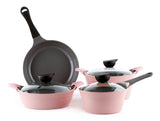 Neoflam Eela 7 Piece Ceramic Nonstick Cookware Set in Pink
