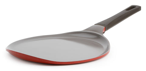 Neoflam Mitra 10 Inch Ceramic Nonstick Crepe Pan in Chili Pepper Red