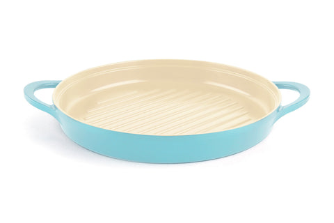 Neoflam Retro 10 Inch Ceramic Nonstick Round Grill Pan in Mint