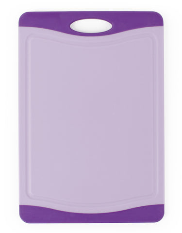 Neoflam Non-slip Poly Cutting Board with Microban Antimicrobial Protection, Purple