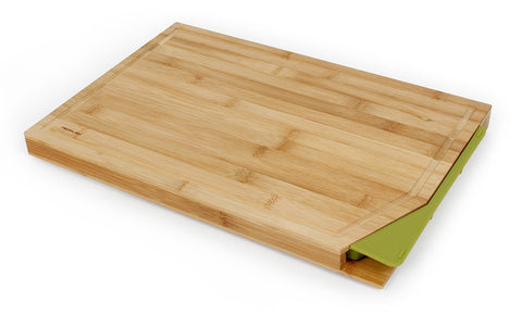 Cut2Tray Bamboo Cutting Board with Tray, Green