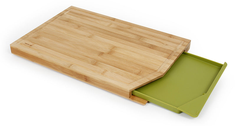 Cut2Tray 18 inches Bamboo Cutting Board with Tray, Green