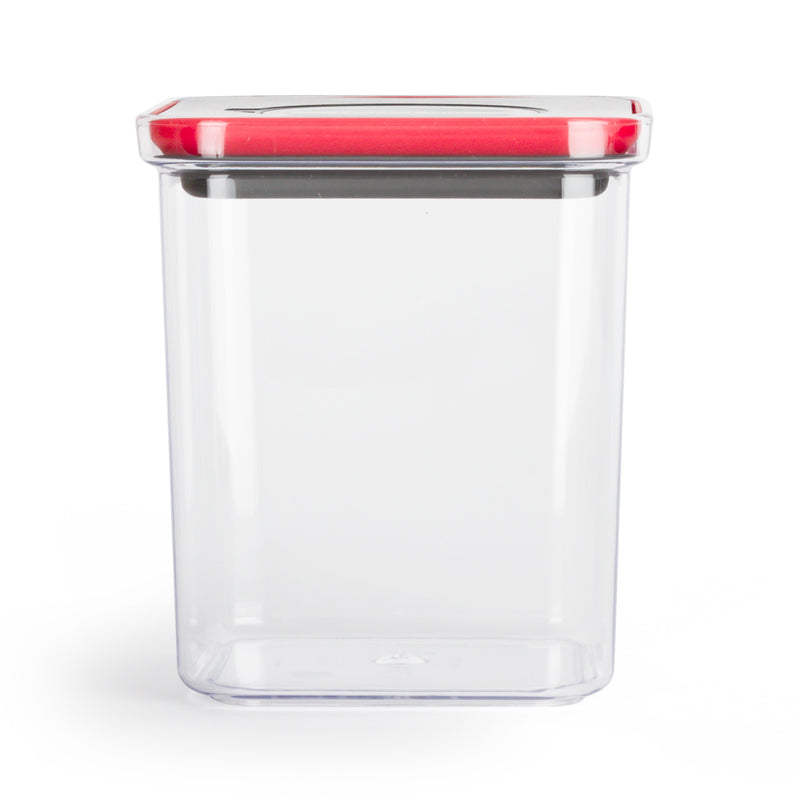 Pantry Canister with Smart Seal - Square, Black Lid
