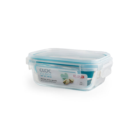 Neoflam Cloc Glass Rectangular Food Storage, Airtight Lid