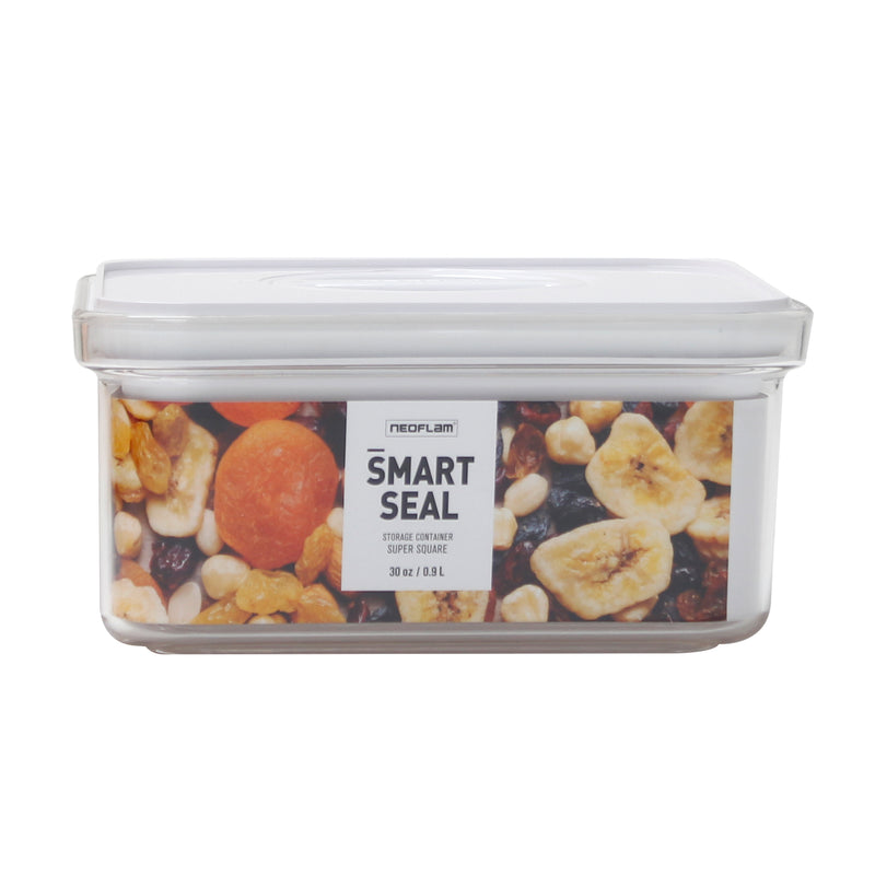 Smart Seal - Large Square 0.9QT (0.9L) White Lid, Food Storage