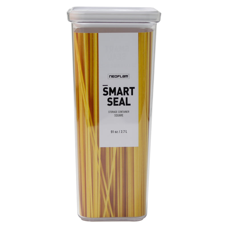 Neoflam Smart Seal - Square  3QT (2.7L) w/ White Lid, Food Storage