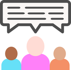 Icon representing an online community forum