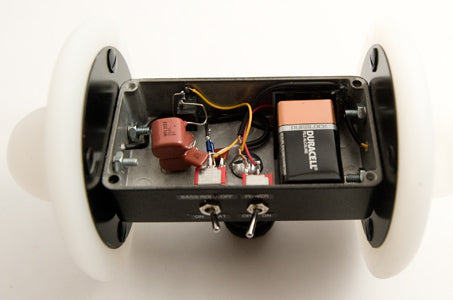 Inside view of the 3Dio Free Space Binaural Microphone