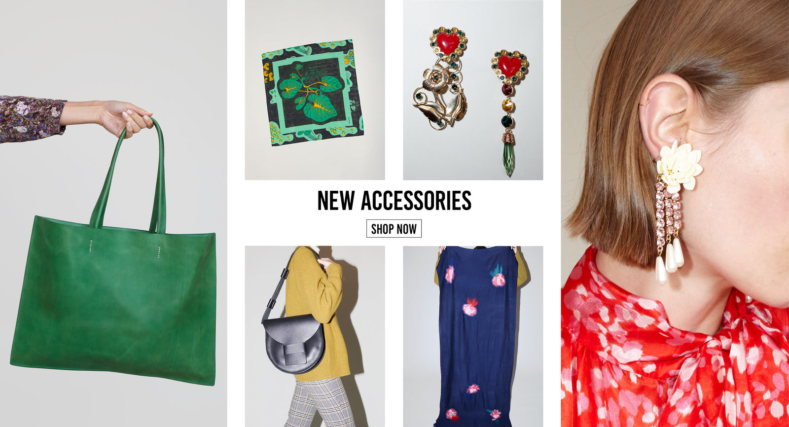 AW18 Silk Scarves, Statement Earrings, Leather Bags | Contemporary Women's Accessories | No.6 Store