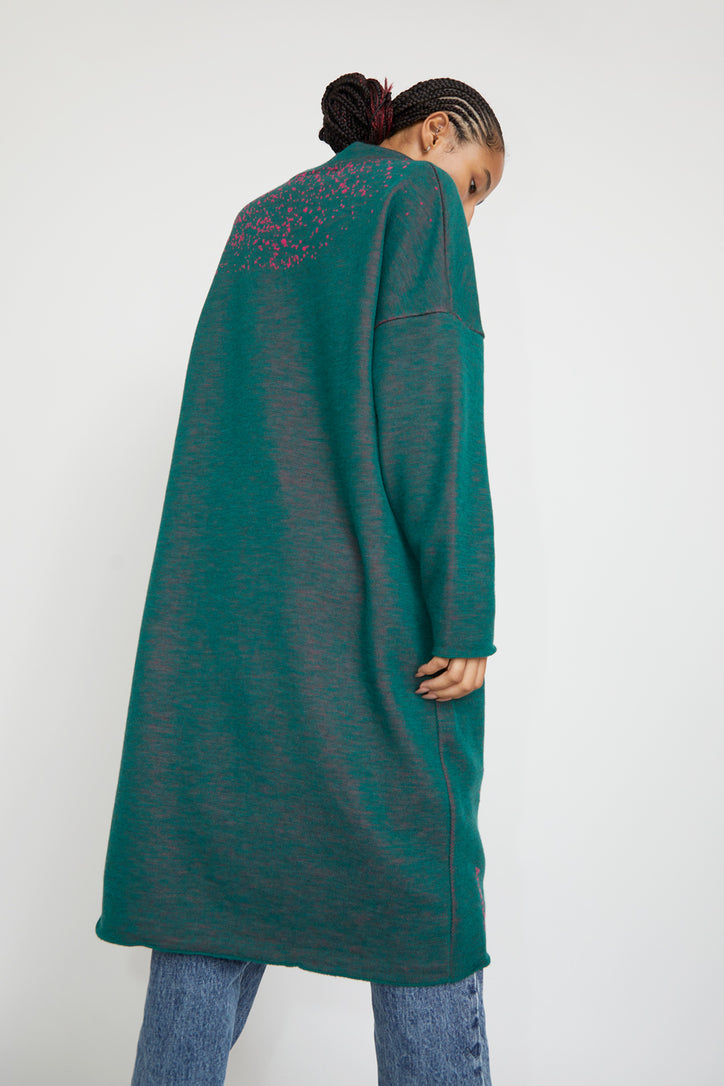 Image of Anntian Knitdress in Green and Pink Cosmic