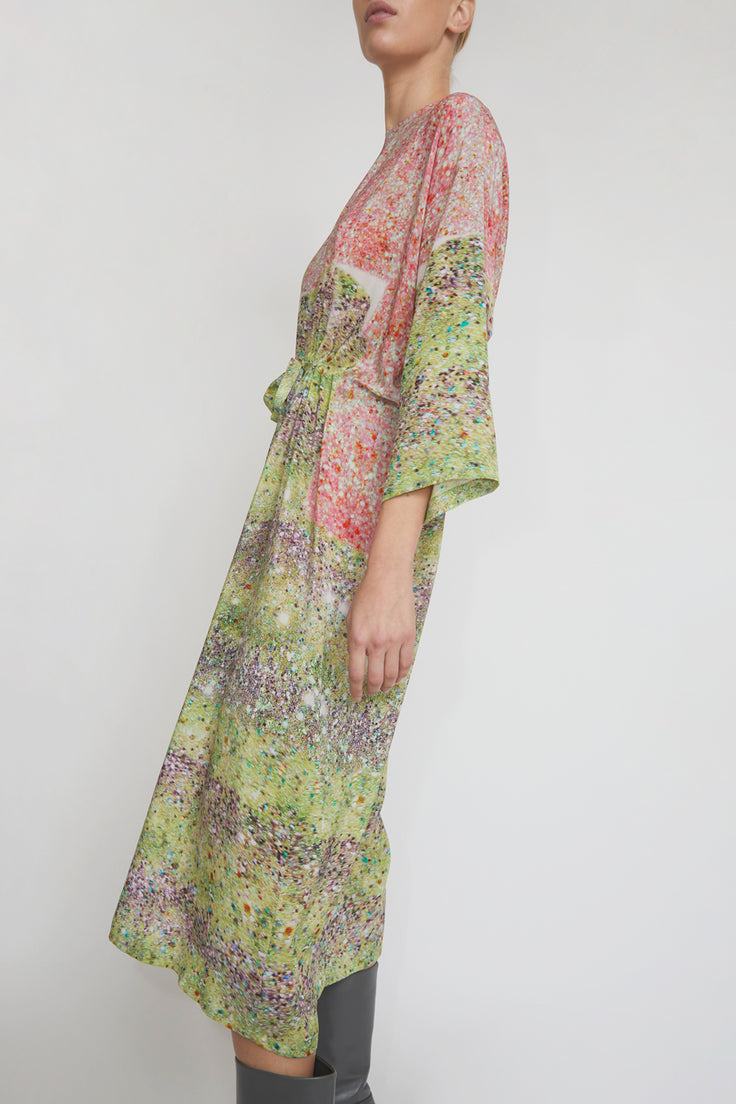 Image of Anntian Simple Dress in Print L Light