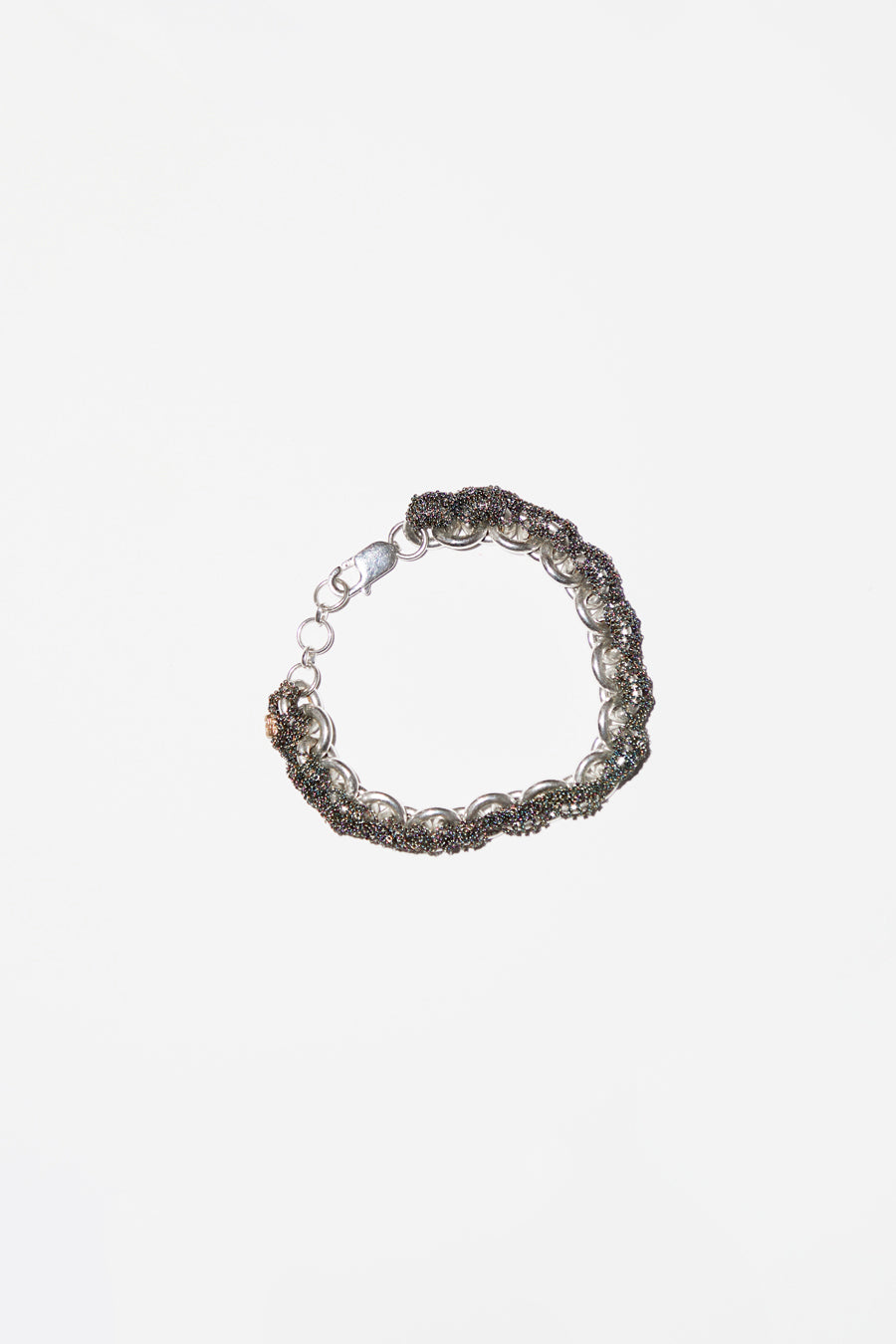 Arielle de Pinto Connection Bracelet in Anti-Peach with Silver Links