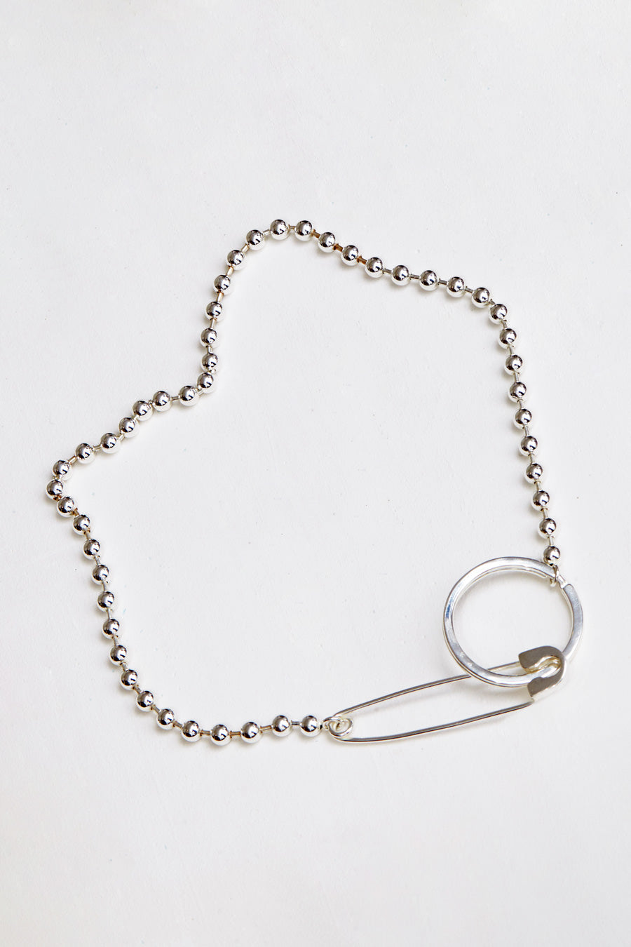 Biis Ball Key Ring/ Necklace in Sterling Silver