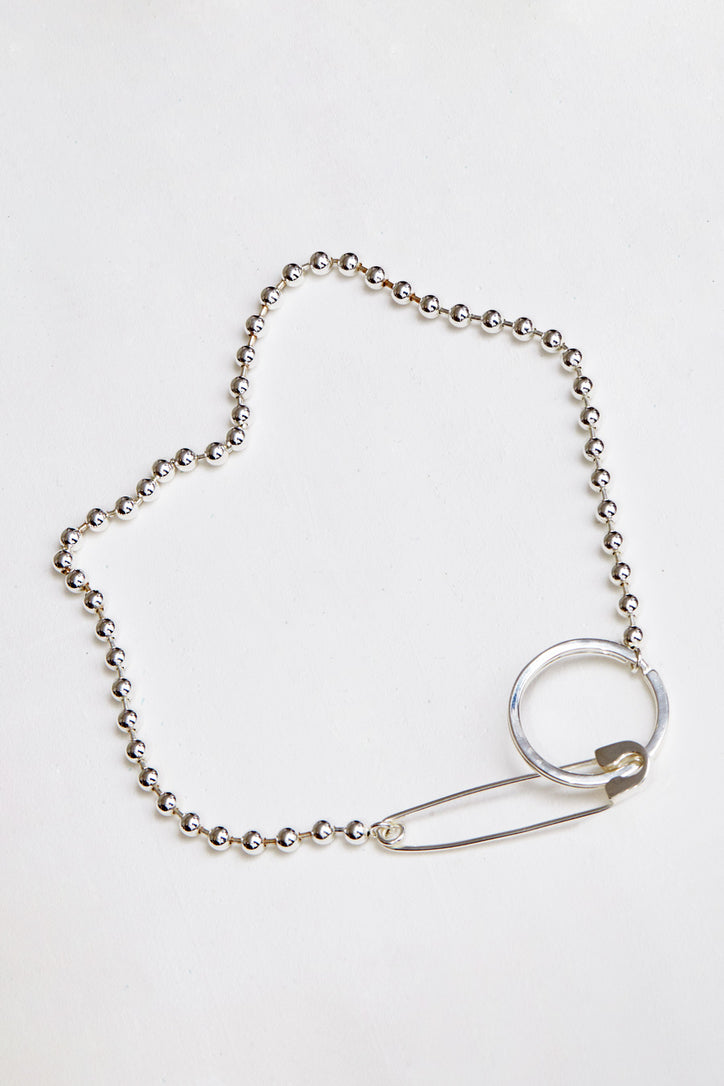 Image of Biis Ball Key Ring/ Necklace in Sterling Silver