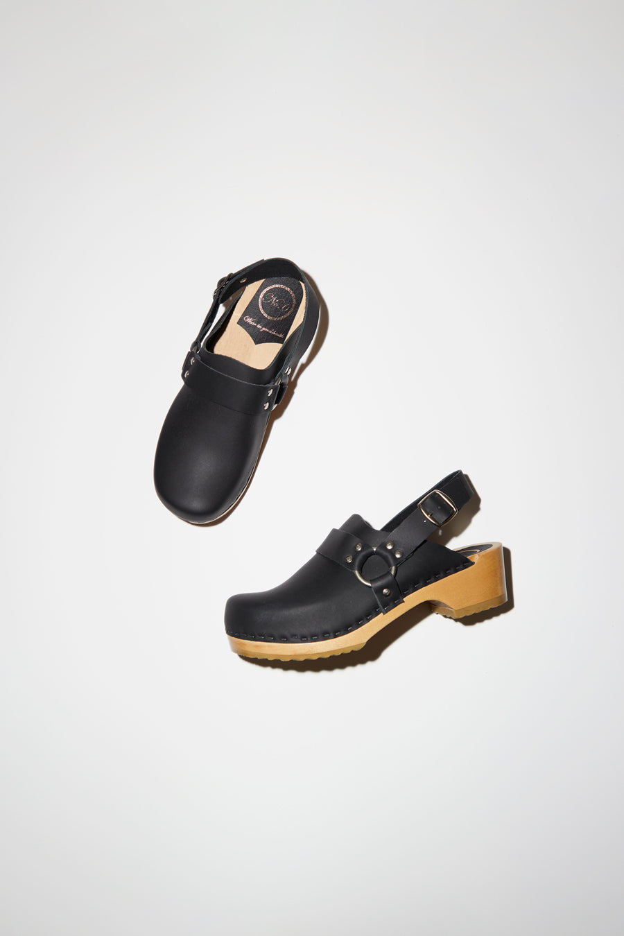 No.6 Brando Clog on Vintage Base in Black
