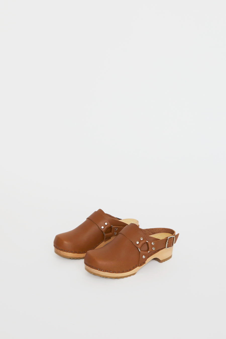No.6 Brando Clog on Vintage Base in Palomino
