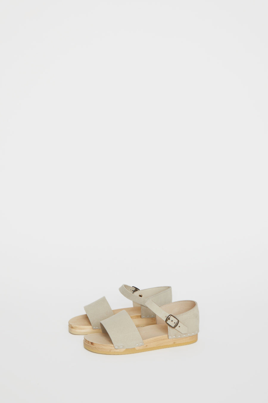 No.6 Scout Sandal on Bendable Base in Chalk Suede