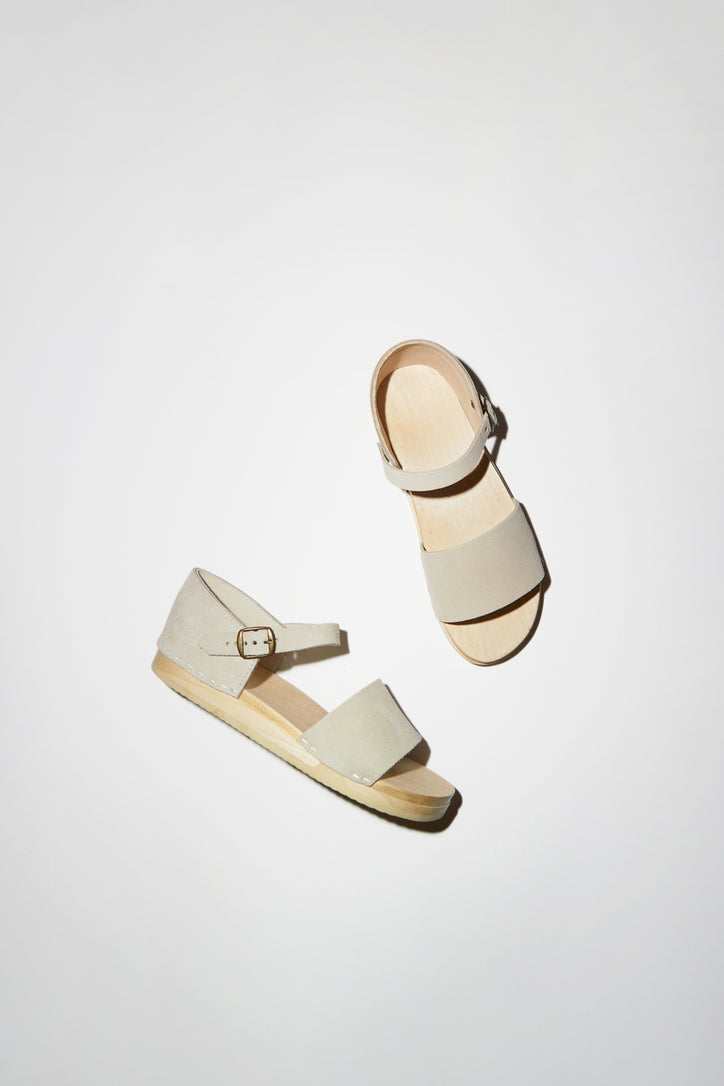 Image of No.6 Scout Sandal on Bendable Base in Chalk Suede