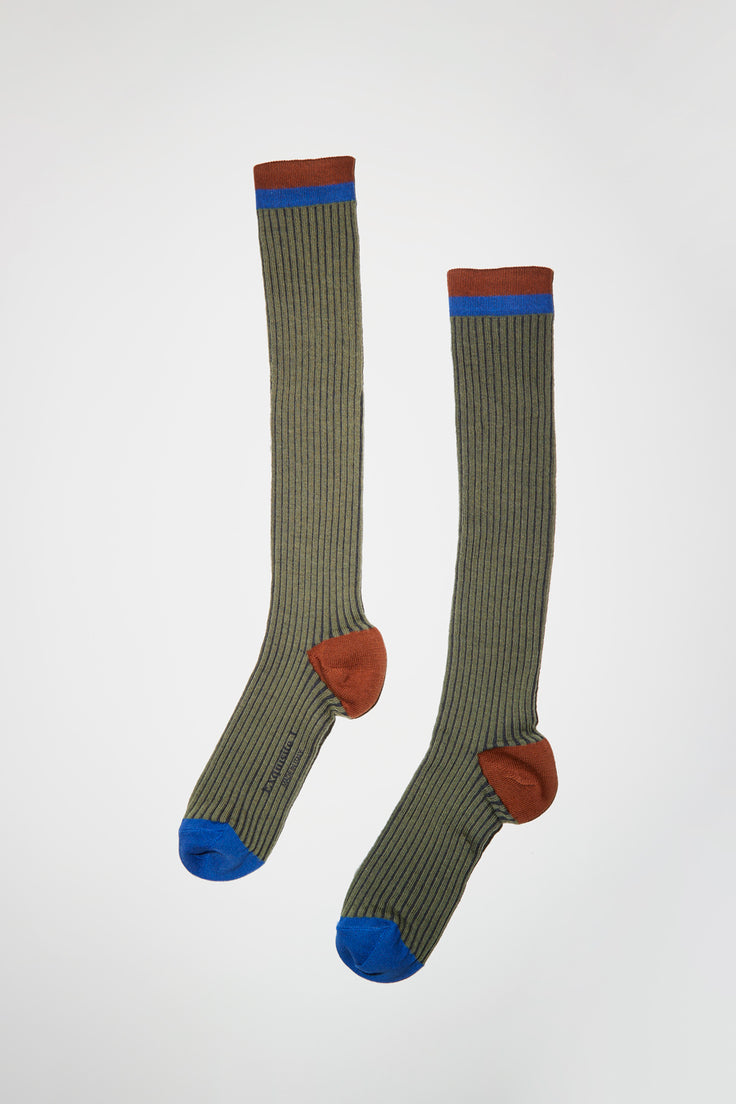 Image of Exquisite J Long Ribbed Sock in Light Green