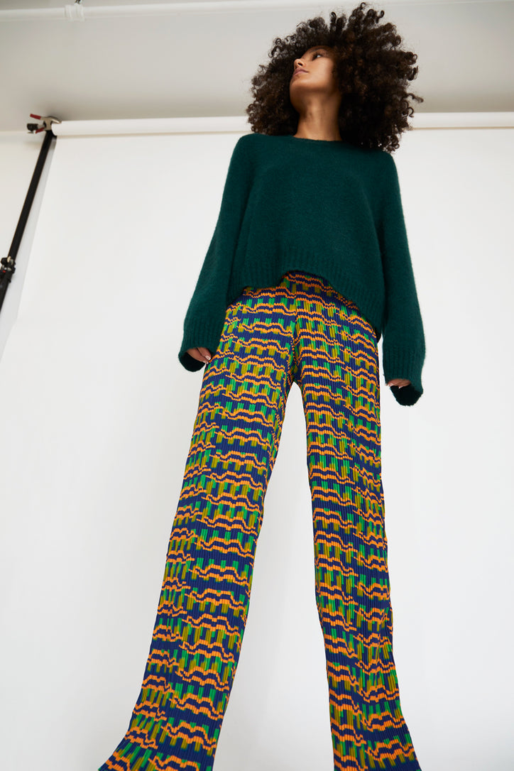 Image of Julia Heuer Jack Pants in Print Tom Green Orange and Blue