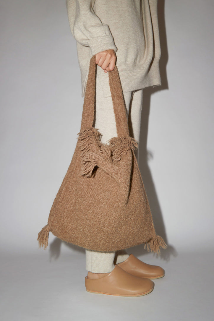 Image of Lauren Manoogian Handwoven Brindle Tote in Cedar