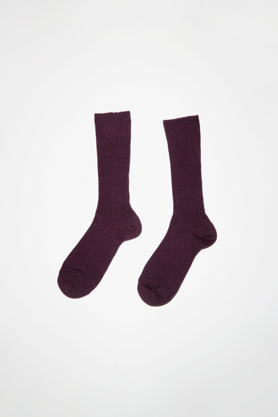 Maria La Rosa Extrafine Merino Ribbed Sock in Purple