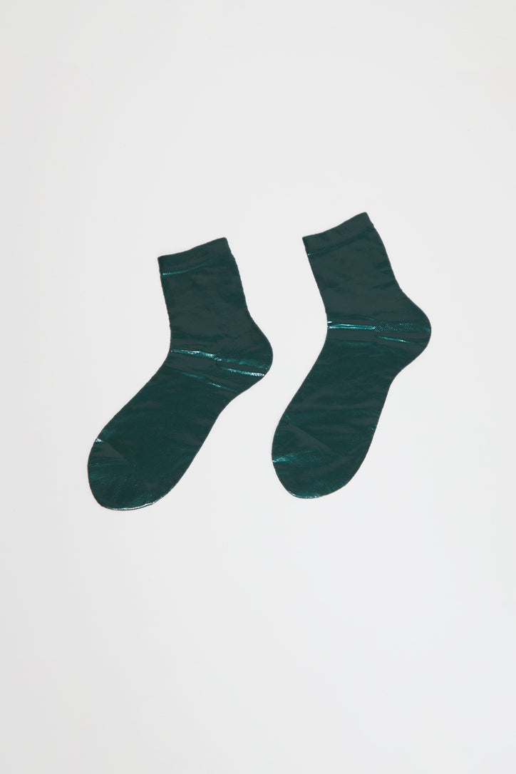 Image of Maria La Rosa Laminated Sock in Forest